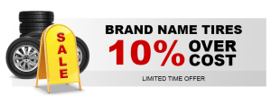 Sale! 10% of cost of Brand Name Tires